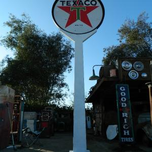 Cynthia Eastwood The Picker Chick Sign Pole in Texaco