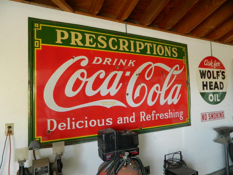 Cynthia Eastwood The Picker Chick 1933 Coca Cola Sign
