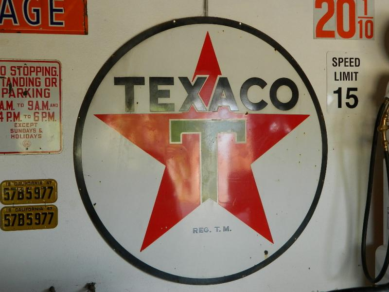 Cynthia Eastwood The Picker Chick Texaco Porcelain Sign
